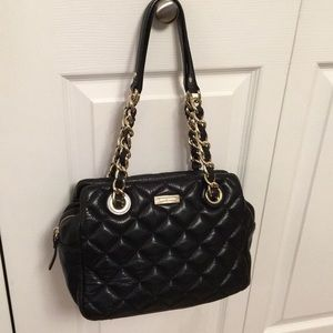 Kate Spade ♠️ NY Leather Quilted Chain Bag